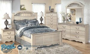 Wooden Bedroom Glamour Furniture Set White Duco Terbaru