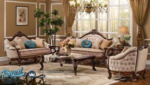 Bristol Living Room Jati Set Sofa Tamu Mewah Terbaru
