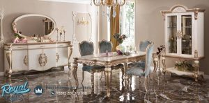 Dinning Room Set Mewah Model Klasik Elegan Terbaru