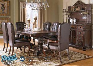 Furniture Dinning Room Set Mewah Hadcook Jati Klasik Terbaru