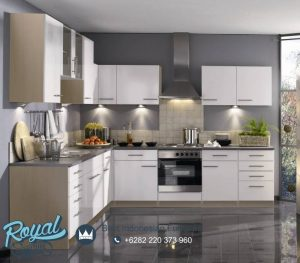 Kitchen Set Granite White Duco Modern Style Mewah Terbaru