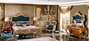 Model Bedroom Set Mewah Ukiran Finishing Gold Terbaru