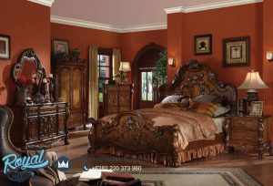 Queen Bedroom Set King Size Kamar Set Jati Terbaru