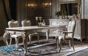 Set Dining Room Mewah Model Klasik Jepara Terbaru