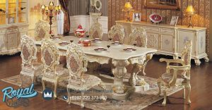 Set Furniture Dinning Room Set Mewah Ukiran Terbaru
