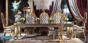 Set Furniture Meja Makan Mewah Luxury Model Terbaru