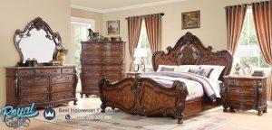 Set Kamar Tidur Mewah Kayu Jati Furniture Lengkap Terbaru