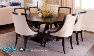 Dining Room Set Formal Design Mewah Terbaru Kayu Jati