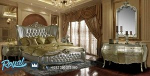 King Bed Mirror Bedroom Set Model Klasik Mewah Terbaru