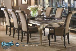 Modern Dining Room Table Set Mewah Classy Terbaru