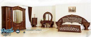 Modeste Klasik Bedroom Set Mewah Kayu Jati Tua Model Terbaru