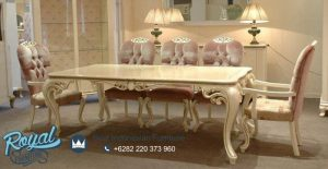 Palmy Soft Dining Room Set Klasik Mewah Model Terbaru
