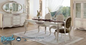 Set Furniture Dining Room Mewah Duco Putih Terbaru