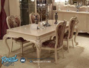 Set Furniture Ruang Makan Model Klasik Mewah Terbaru