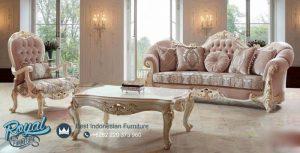 Set Kursi Tamu Mewah Florya Klasik Italia Model Terbaru