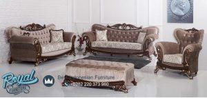 Set Kursi Tamu Sofa Gumus Mewah Modern Design Terbaru