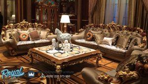 Set Kursi Tamu Sofa Klasik Jati Ukiran Mewah Terbaru