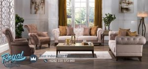 Set Kursi Tamu Sofa Minimalis Elentra Klasik Vintage Terbaru