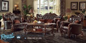 Set Sofa Tamu Mewah Oscar Jok Ukiran Model Terbaru