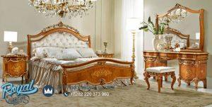 Set Tempat Tidur Mewah Klasik Jati Ukiran Terbaru