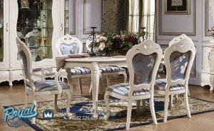 Contoh Set Meja Makan Klasik Meruke White Duco Terbaru