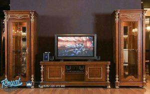 Jual Rak dan Bufet TV Kayu Jati Mewah Terbaru