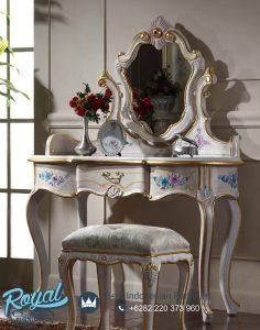 Meja Rias Mewah Gold Classic Dresser Model Terbaru