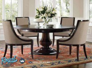 Model Set Kursi Meja Makan Trendy Round Table Terbaru