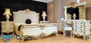 Set Kamar Tidur Milenia Putih Gold Klasik Model Terbaru