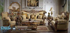 Set Sofa Tamu Mewah Arabic Ukiran Model Terbaru