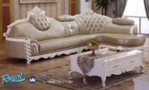 Sofa Kulit Set Living Room Set Klasik Mewah Terbaru
