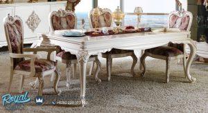 Gambar Set Kursi Meja Makan Klasik Mewah Elenia Terbaru