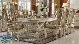 Jual Dining Room Set Mewah Klasikal Jepara Terbaru