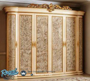 Lemari Pakaian Mewah Klasik Italian Furniture Terbaru