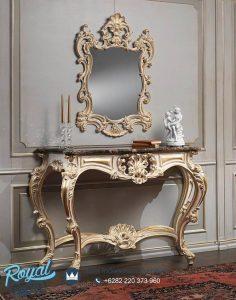Meja Konsol Ukir Antik Ukiran Jepara Mewah With Mirror