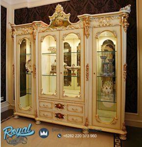 Model Lemari Hias Klasik Jepara Terbaru Victorian Mewah