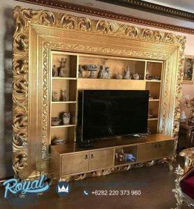 Set Bufet TV Mewah Golden Slumber Ukiran Mewah Terbaru