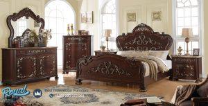 Set Tempat Tidur Kayu Jati Mewah Model Klasik Terbaru
