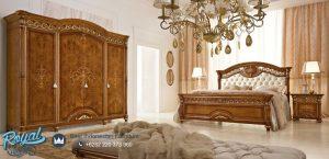 Set Tempat Tidur Mewah Kayu Jati Klasik Jepara Terbaru