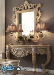 Victorian Ukir Console Table Mewah dan Cermin Murah Terbaru