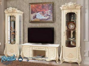 Bufet TV Set Lemari Hias Modern Mewah Livingroom Set