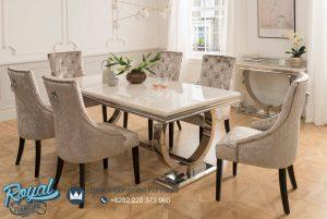 Dining Room Mewah Minimalis Cream Bludru Halus Terbaru