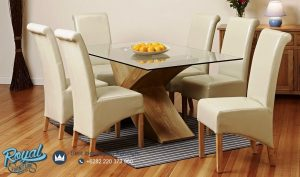 Glass Extendable Dining Table Set Minimaslis Terbaru