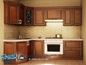 Jual Furniture Dapur Kitchen Set Mewah Jati Klasik Jepara Terbaru