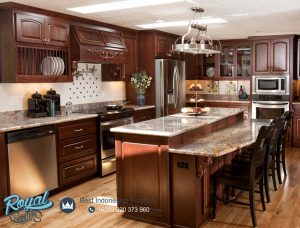 Jual Kitchen Set Cabinet Jati Mewah Model Terbaru Jepara