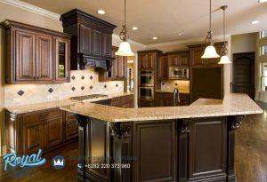 Kitchen Set Mewah Eropa Klasik Kayu Jati Model Terbaru