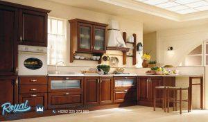 Model Kitchen Set Mewah Kayu Jati Model Tebaru