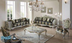 Set Sofa Ruang Tamu Mewah Model Eropa Klasik Terbaru