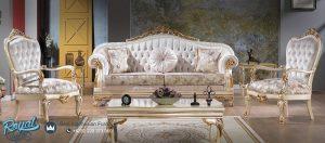 Set Sofa Tamu Mewah Modern Semi Klasik Livingroom Set