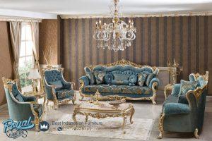Set Sofa Tamu Mewah Victory Klasik Ukiran Model Terbaru